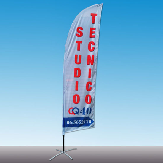 Bandiera a Vela M 280 cm - Bandiere Pubblicitarie Personalizzate