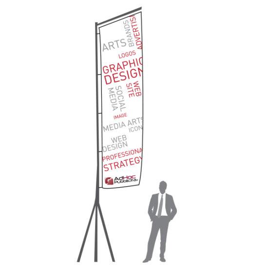 Bandiera a Stendardo 530 cm - Bandiere Pubblicitarie Personalizzate