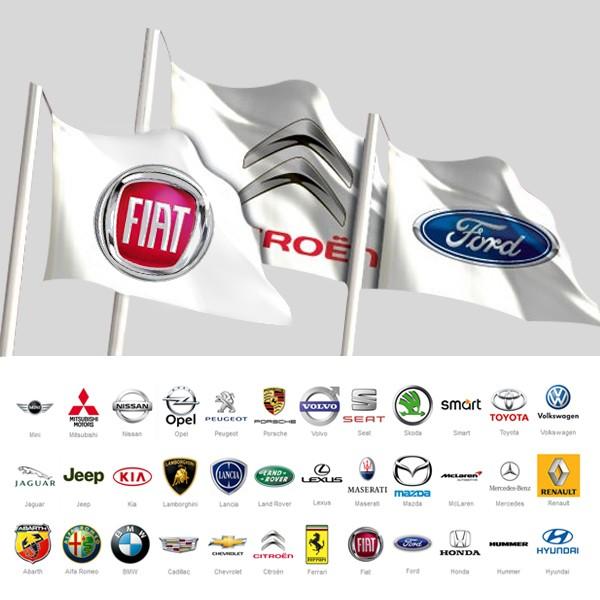 Bandiera Marche Auto 300x100 cm - Bandiere Pubblicitarie Personalizzate