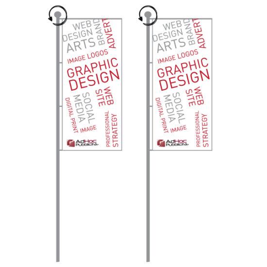 Bandiera per palo rotante 70x100cm - Bandiere Pubblicitarie Personalizzate
