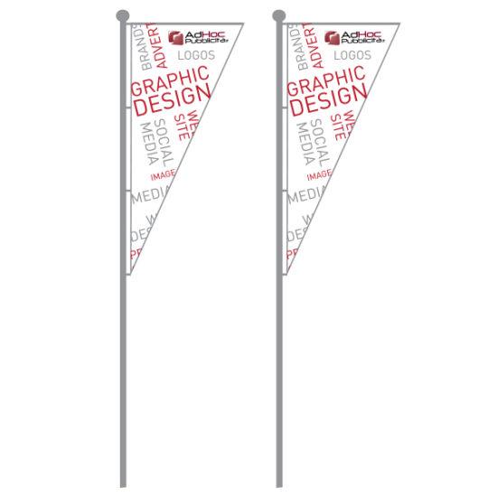 Mezza Bandiera 100x300cm - Bandiere Pubblicitarie Personalizzate