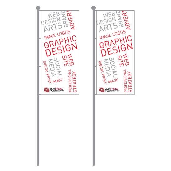 Bandiera per palo 100x400cm - Bandiere Pubblicitarie Personalizzate